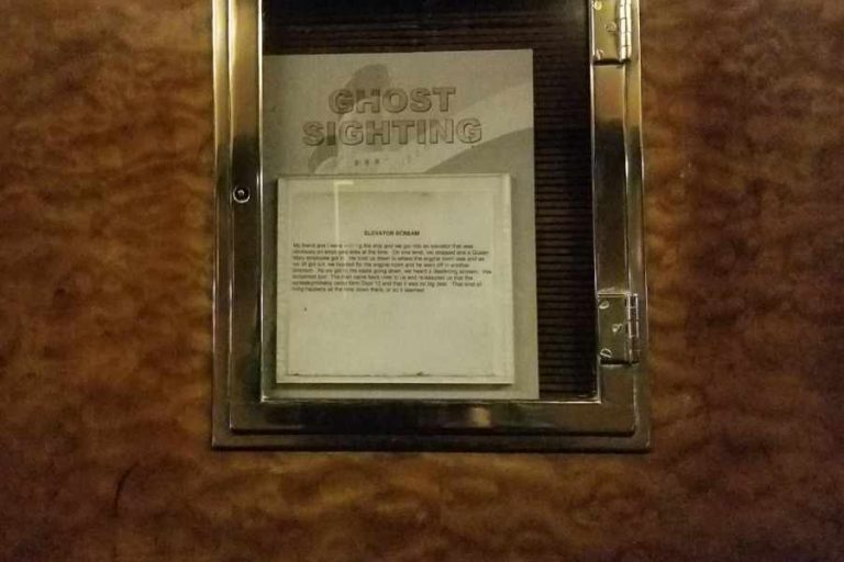 Ghost Sighting Placard on Queen Mary