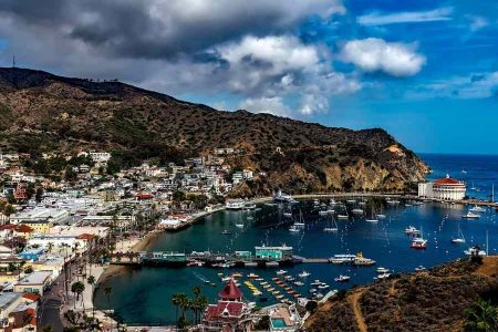 Avalon Harbor on Catalina Island