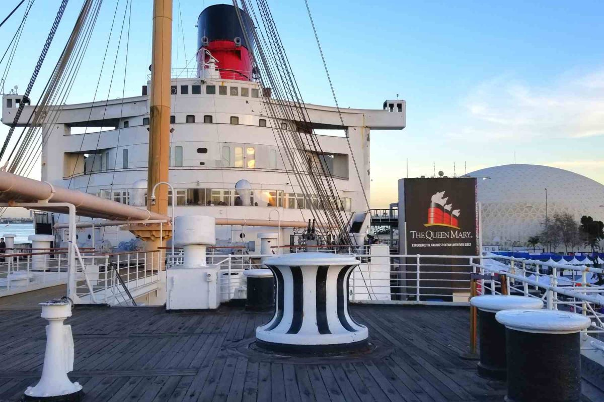 Top Deck of Queen Mary