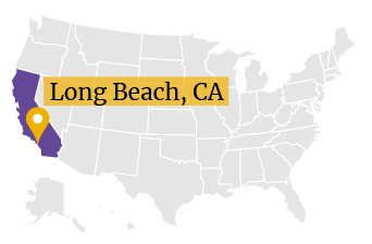 US Map Long Beach CA