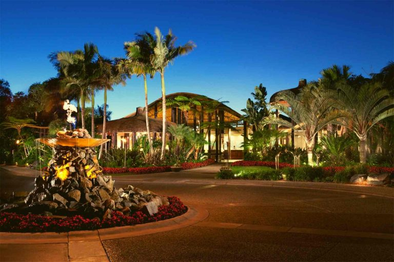 Entrance to Paradise Point Resort in San Diego