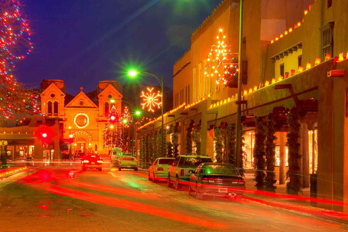 Christmas time in downtown Santa Fe