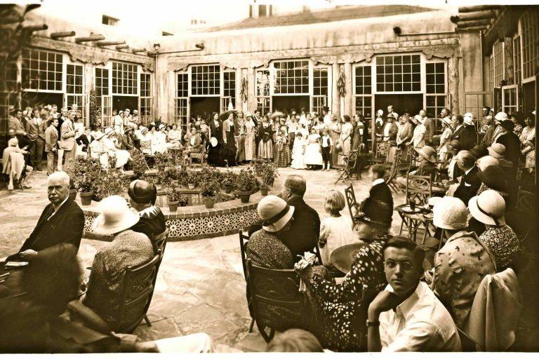 Historic La Fonda Hotel in the 1920s