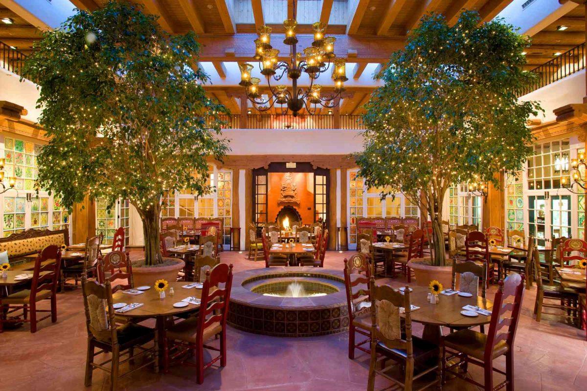La Plazuela Restaurant in Santa Fe La Fonda Hotel