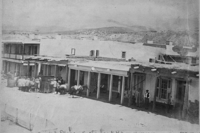 Historical photo of Santa Fe Plaza East