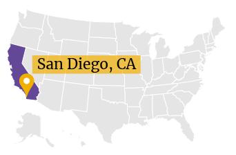 US Map - San Diego, California