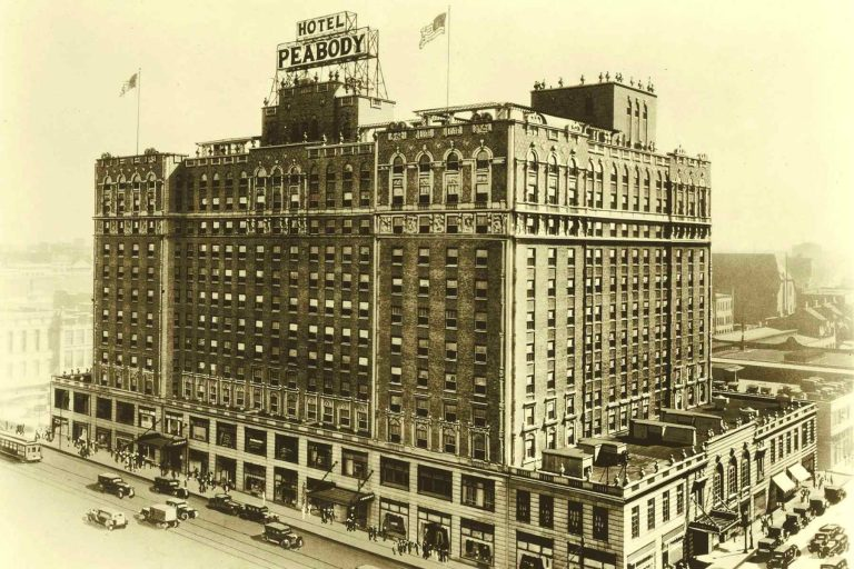 Old drawing of Peabody Hotel