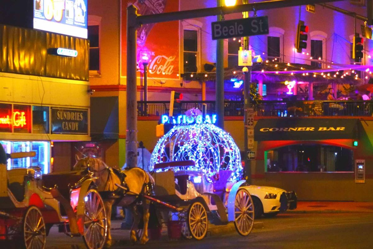 Beale Street Downtown Memphis at Night