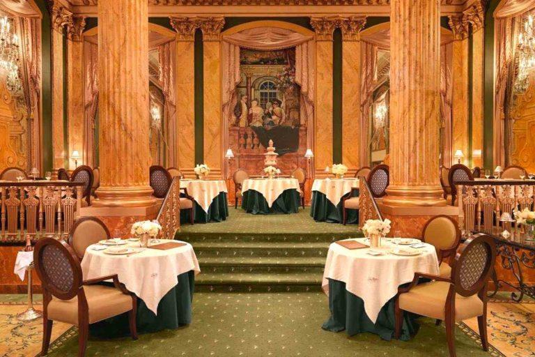 Inside Chez Philippe restaurant at Peabody