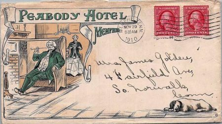 Old Postcard from Peabody Hotel in 1910