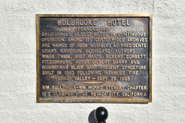 Placard with History of Holbrooke