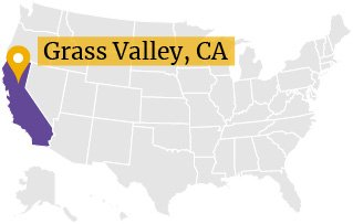 Grass Valley CA on US map